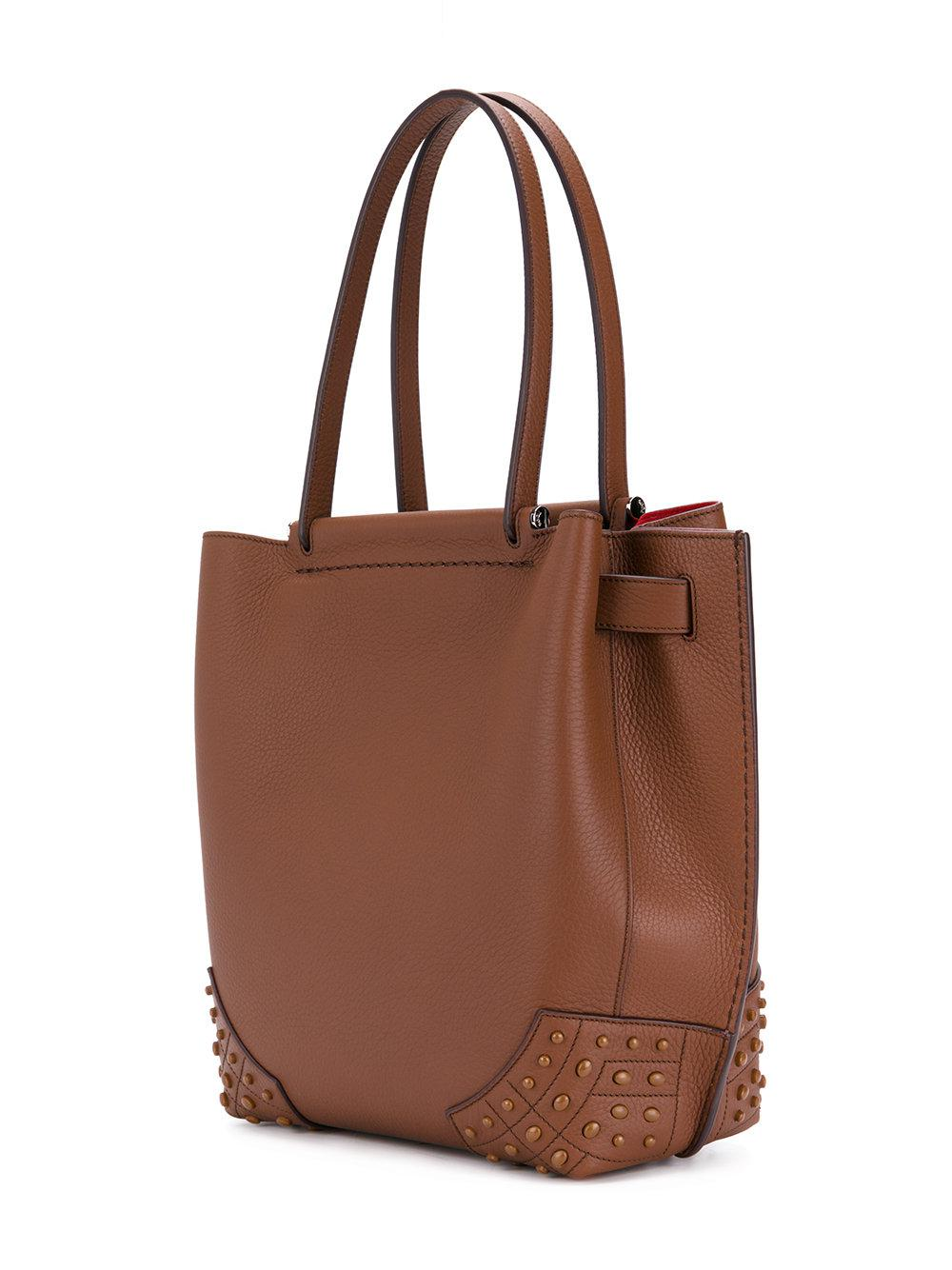 Tod's Leather Gather Tote Bag in Brown