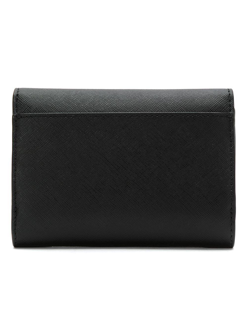 3b854d4adc3e Tory Burch - Blue Parker Foldable Mini Wallet - Lyst. View fullscreen