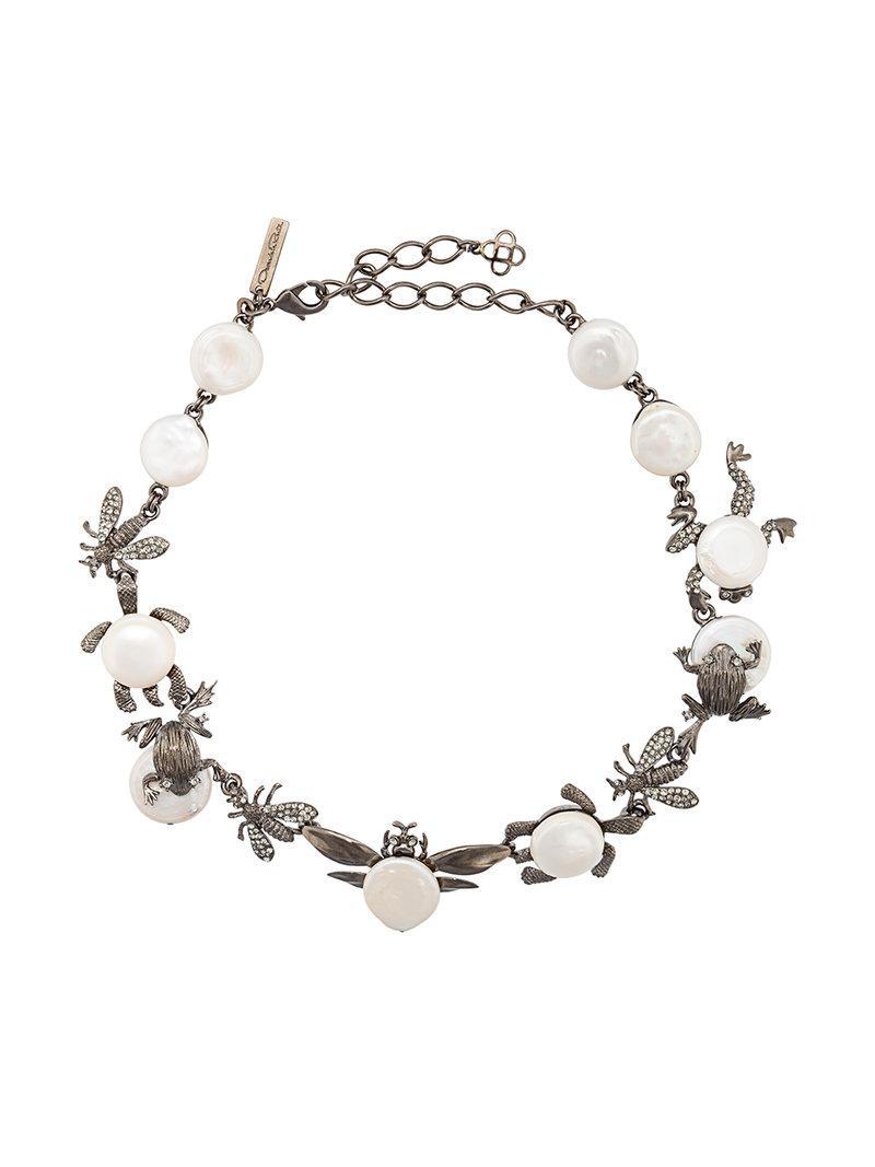Critters necklace - Grey Oscar De La Renta Prices Cheap Online 93G9loI