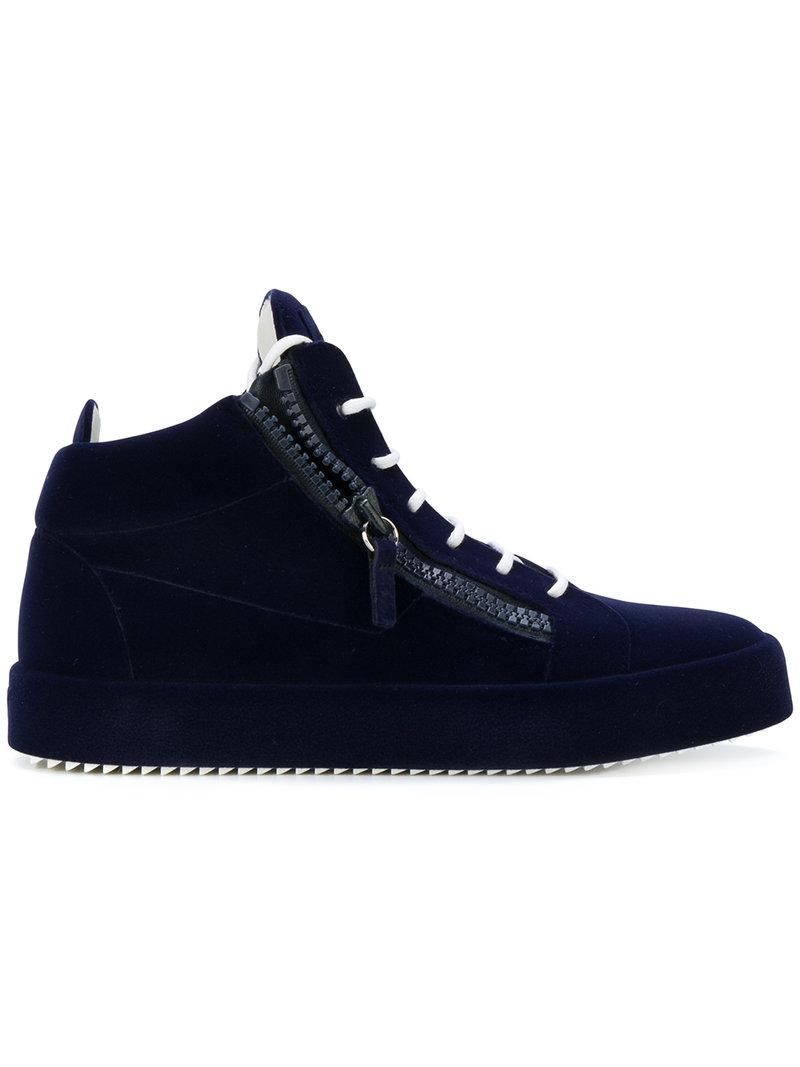 Giuseppe Zanotti Leather The Unfinished in Blue for Men