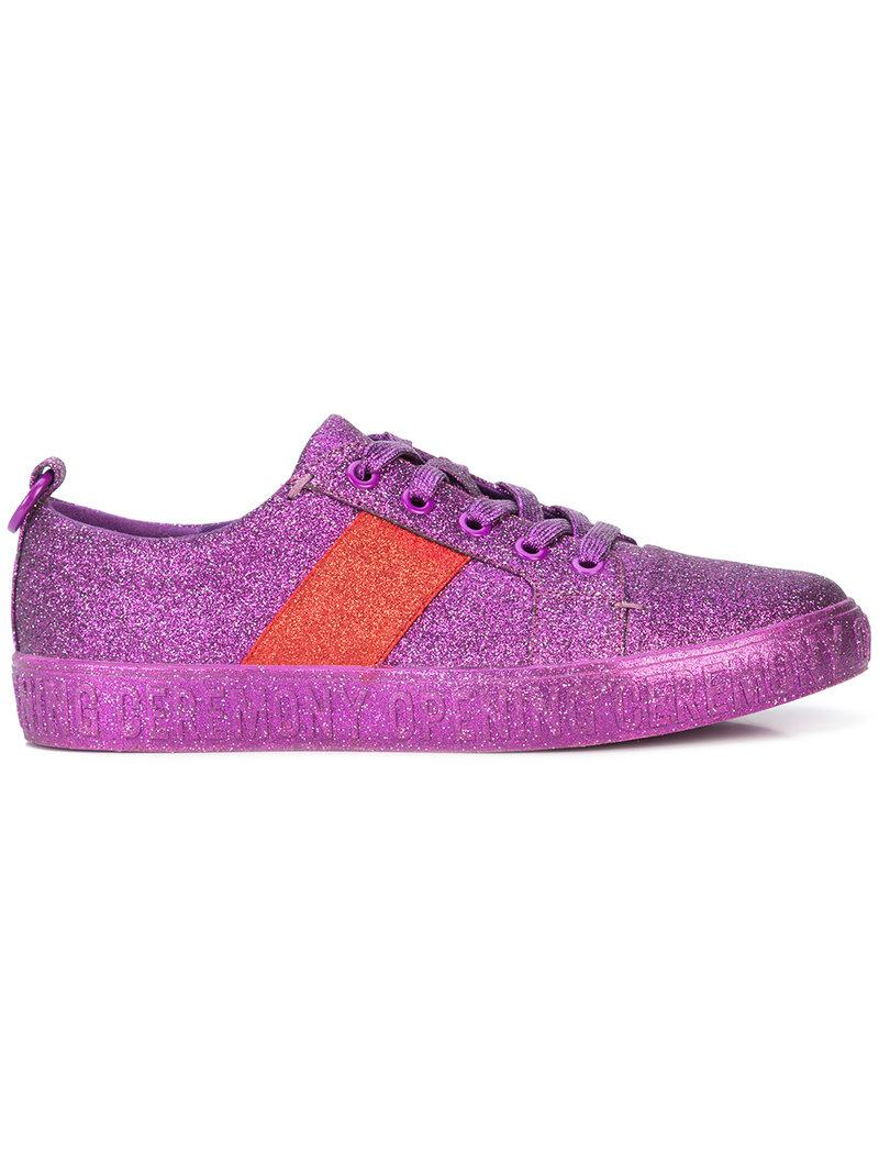 glitter flat sneakers - Pink & Purple Opening Ceremony FlaB5Q
