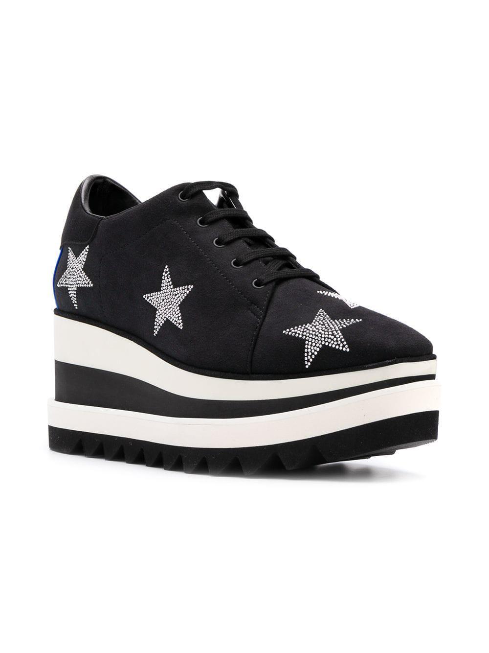 164733541eb Lyst - Stella McCartney Star Elyse Platform Shoes in Black