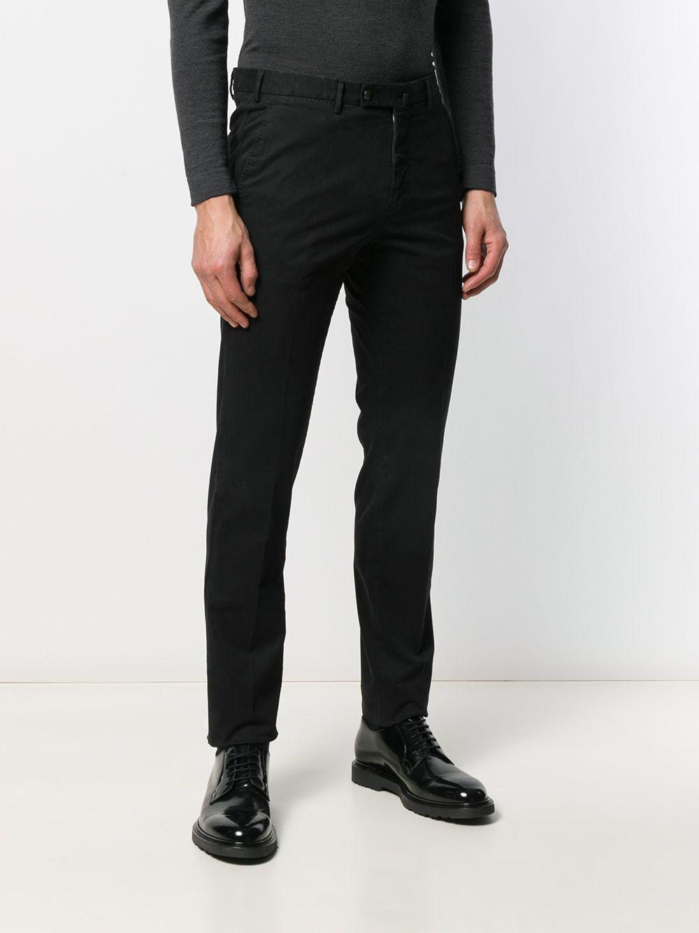 PT01 Slim-fit Chino in het Zwart voor heren