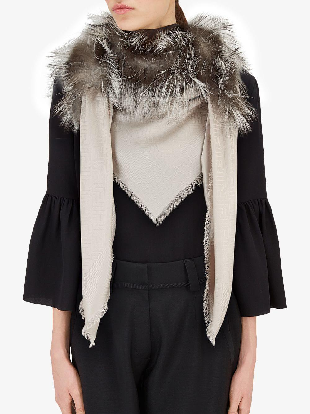 Fendi - Multicolor Chal Touch of Fur - Lyst. Ver en pantalla completa b50d8872edd