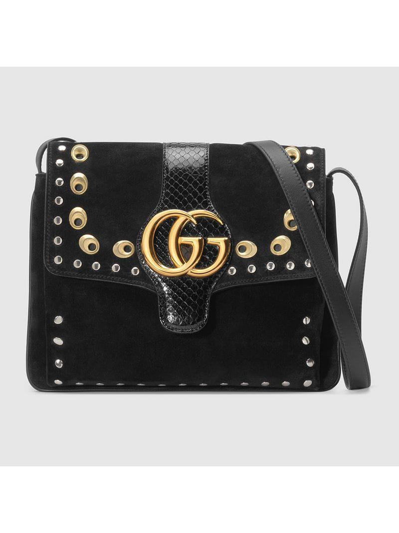 4fff304dcd Lyst - Gucci Arli Medium Shoulder Bag in Black