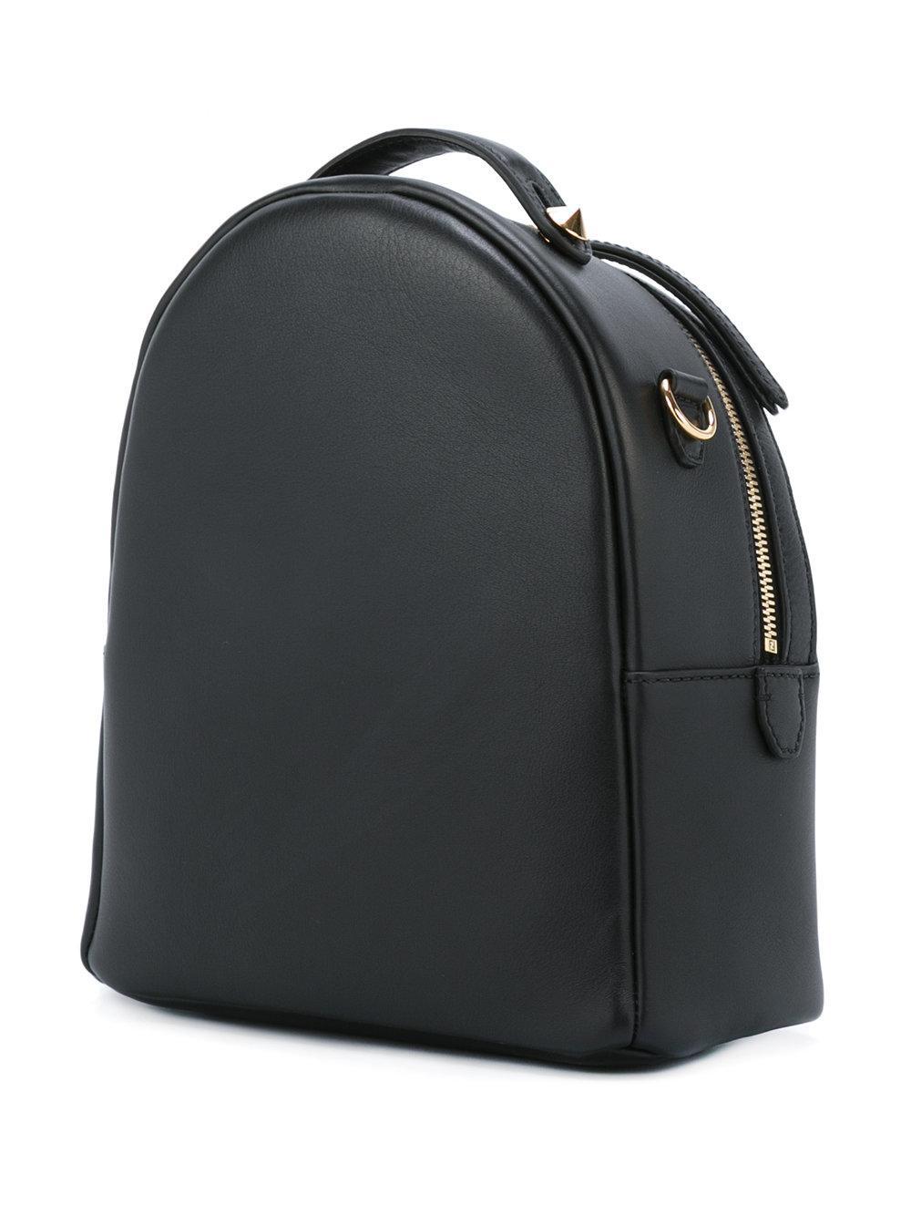 e4222b539eba Fendi Studded Logo Backpack. Lyst - Fendi Studded Backpack in Black