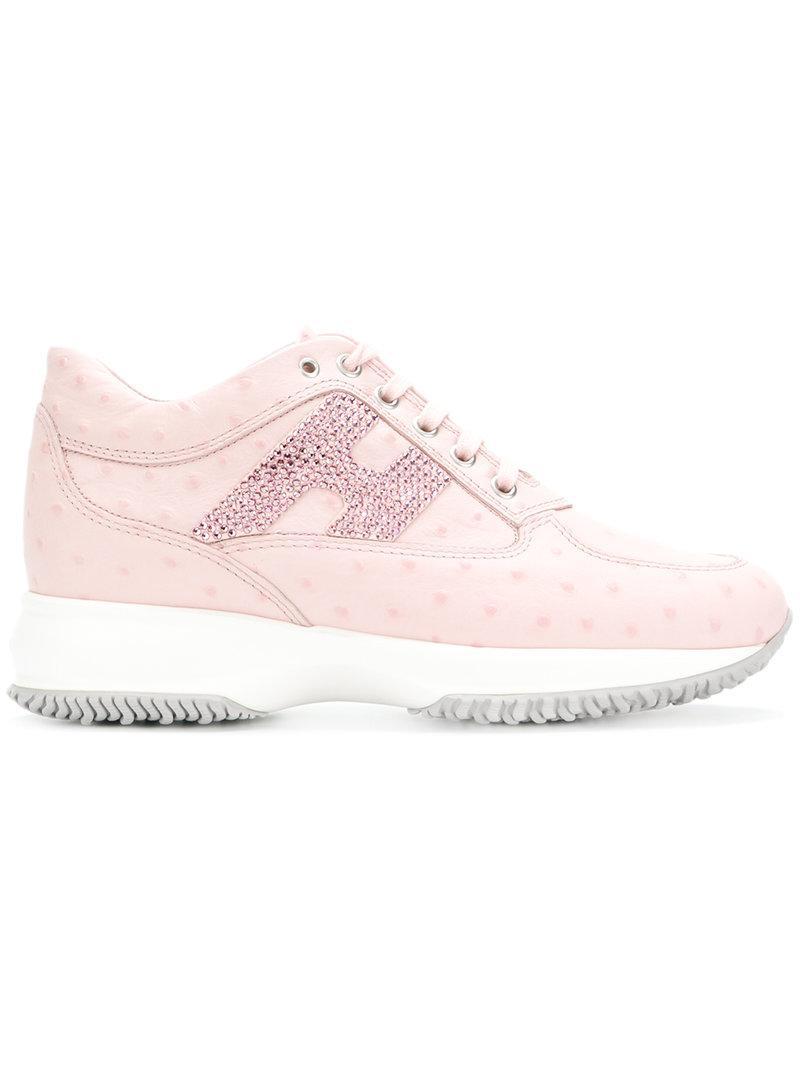 embellished logo sneakers - Pink & Purple Hogan cQEDi