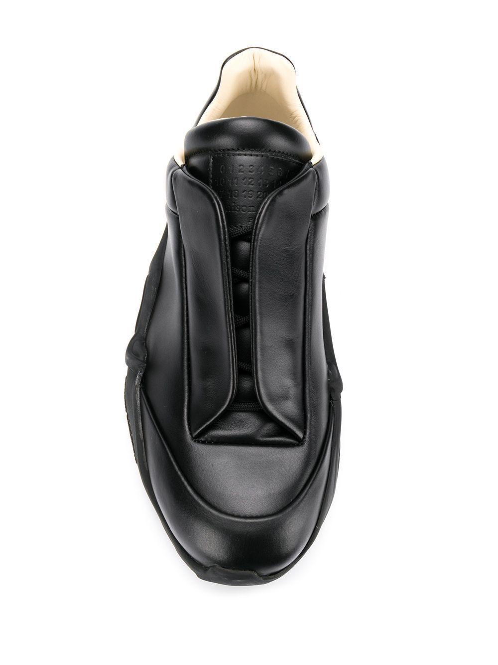 Maison Margiela Leer Future Low-top Sneakers in het Zwart voor heren