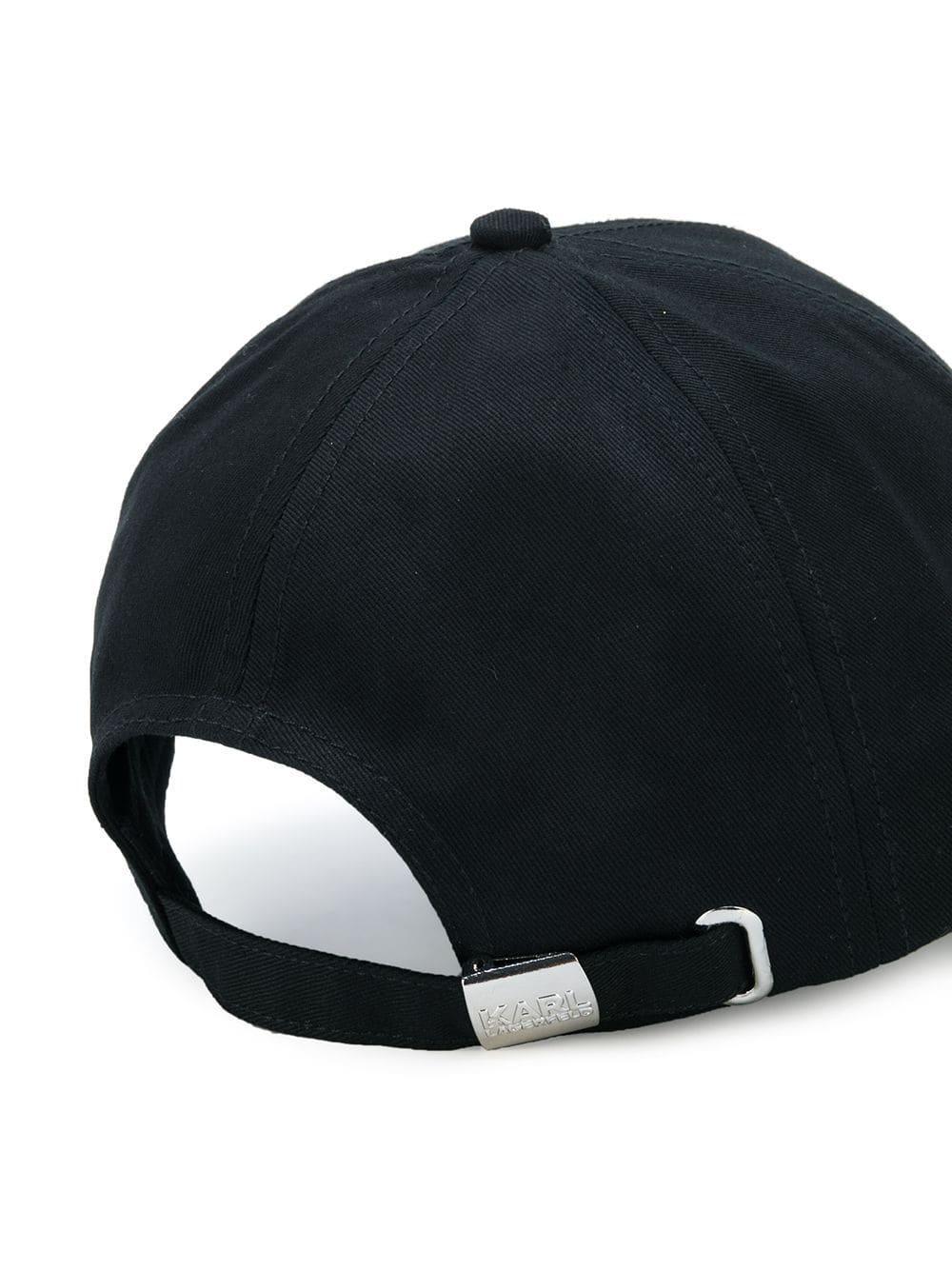 design de qualité Découvrez prix plancher Casquette Karl's Essential Karl Lagerfeld en coloris Black