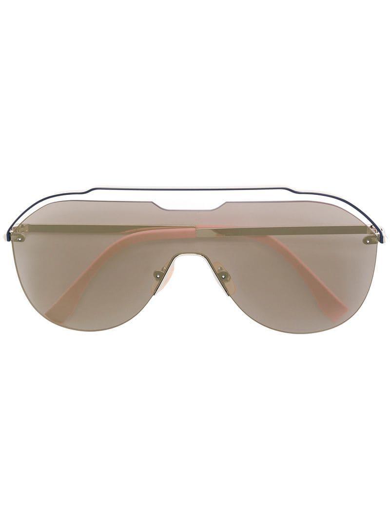 5770f3e345c Fendi Aviator Frame Sunglasses in Pink for Men - Lyst