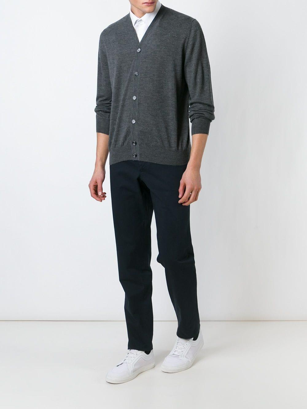 Fashion Clinic Cotton Chino Trousers in Blue for Men