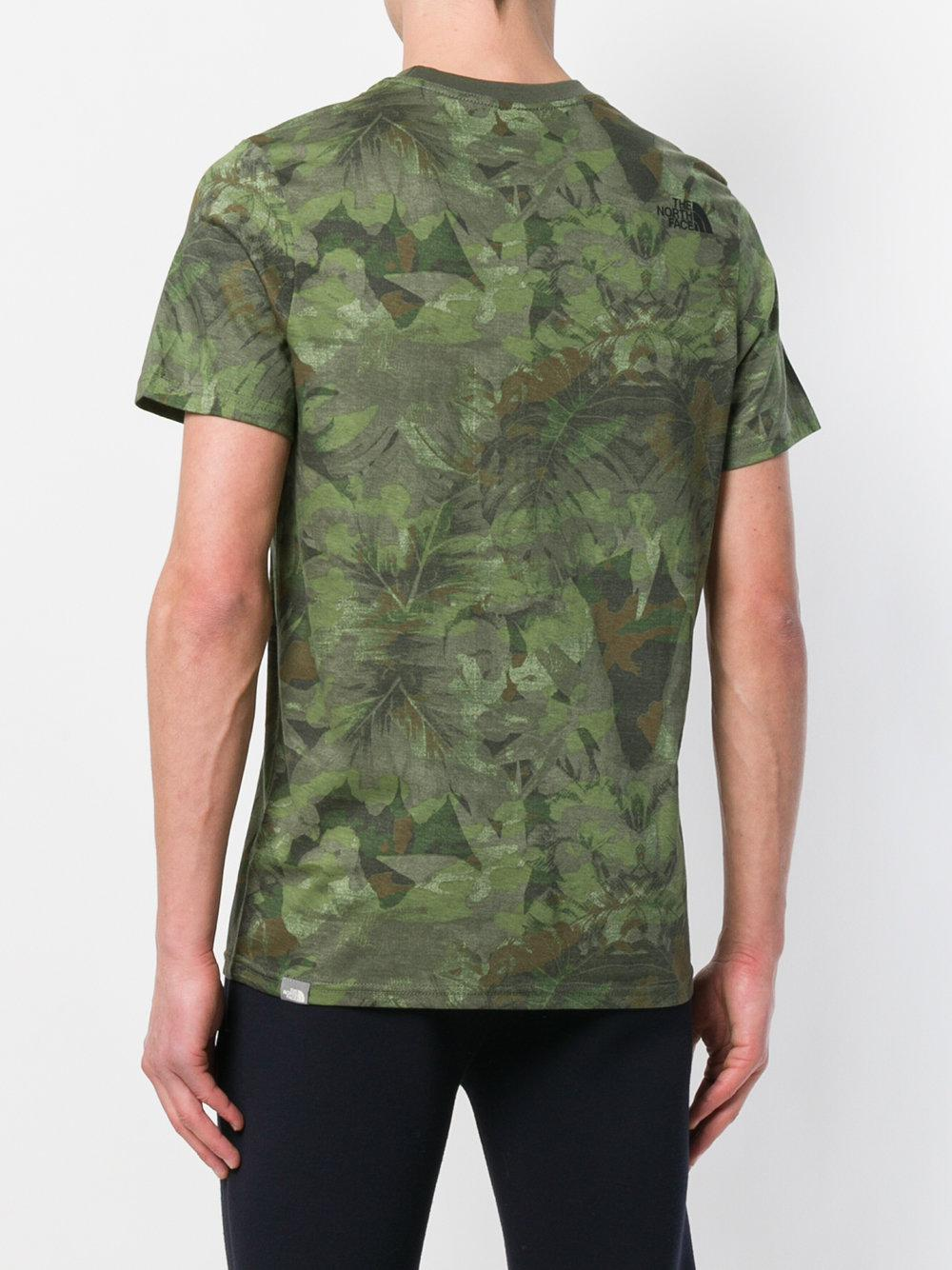 ff94c73c6 Lyst - The North Face Camouflage Print T-shirt in Green for Men
