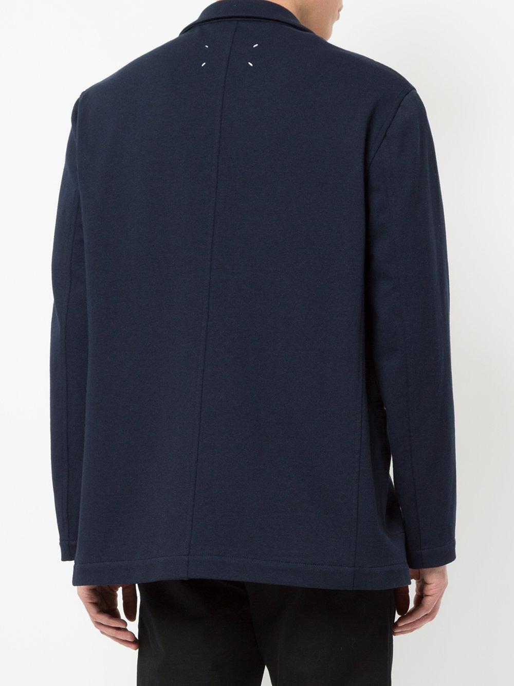 Maison Margiela Cotton Relaxed Blazer Jacket in Blue for Men