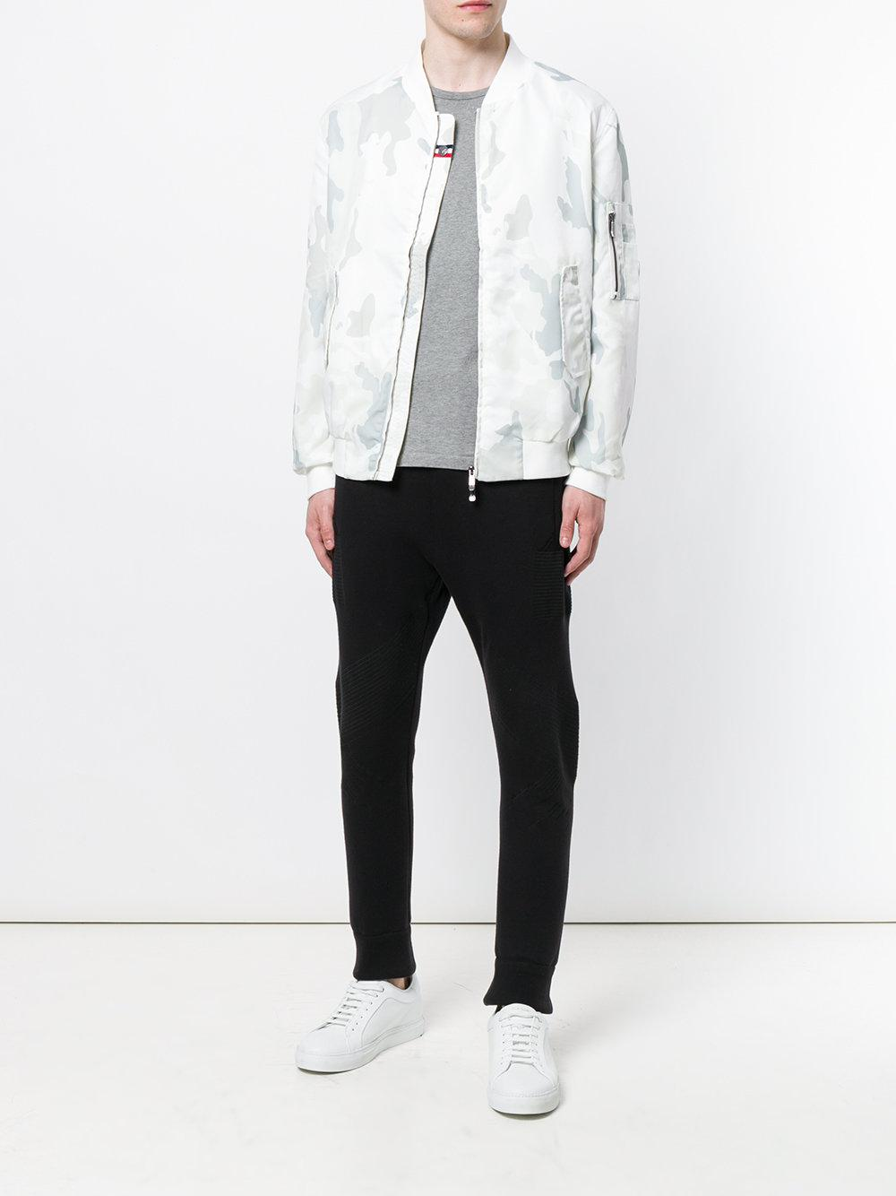 Rossignol Synthetic Camouflage Print Bomber Jacket in White for Men