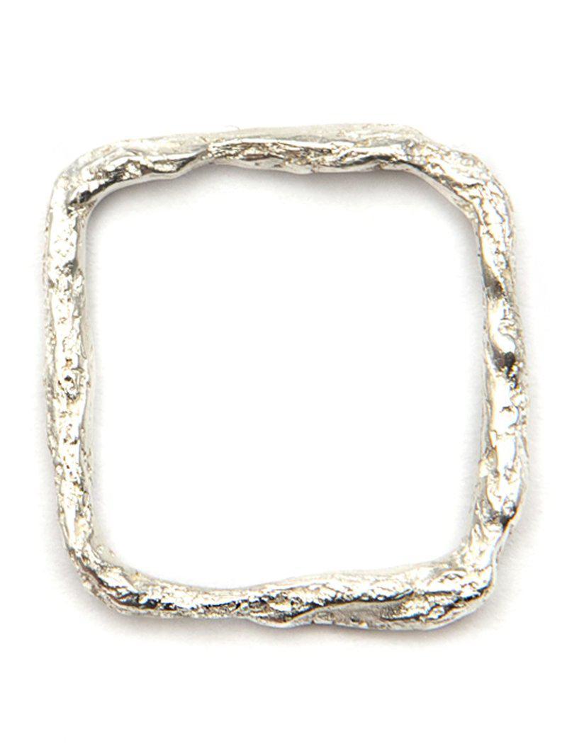 Niza Huang square ring - Metallic u58qGaa