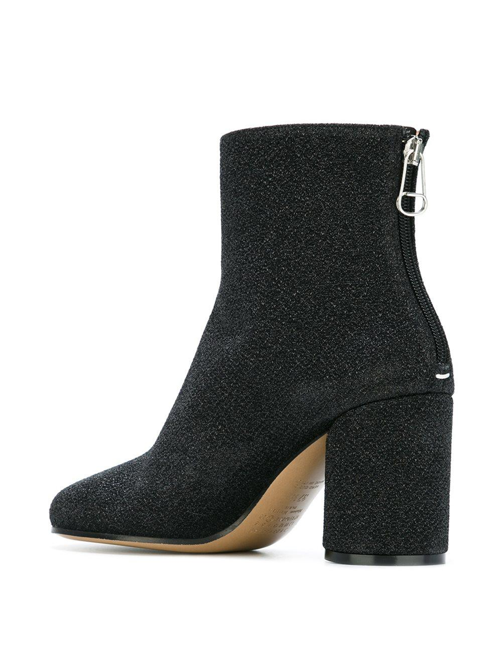 Maison Margiela Cotton 'socks' Ankle Boots in Black (Natural)