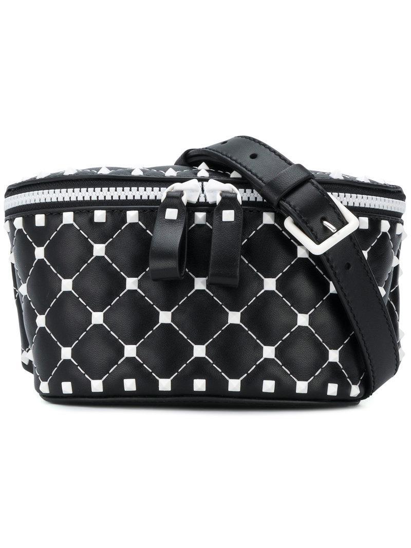 Valentino Rockstud Belt Bag in Black