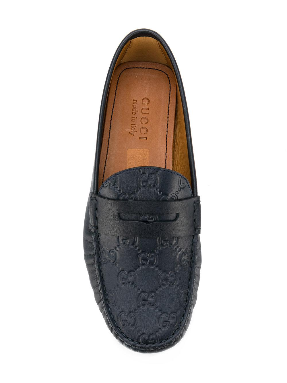 Lyst - Gucci Horsebit Rubber Driving Shoes in Black for Men