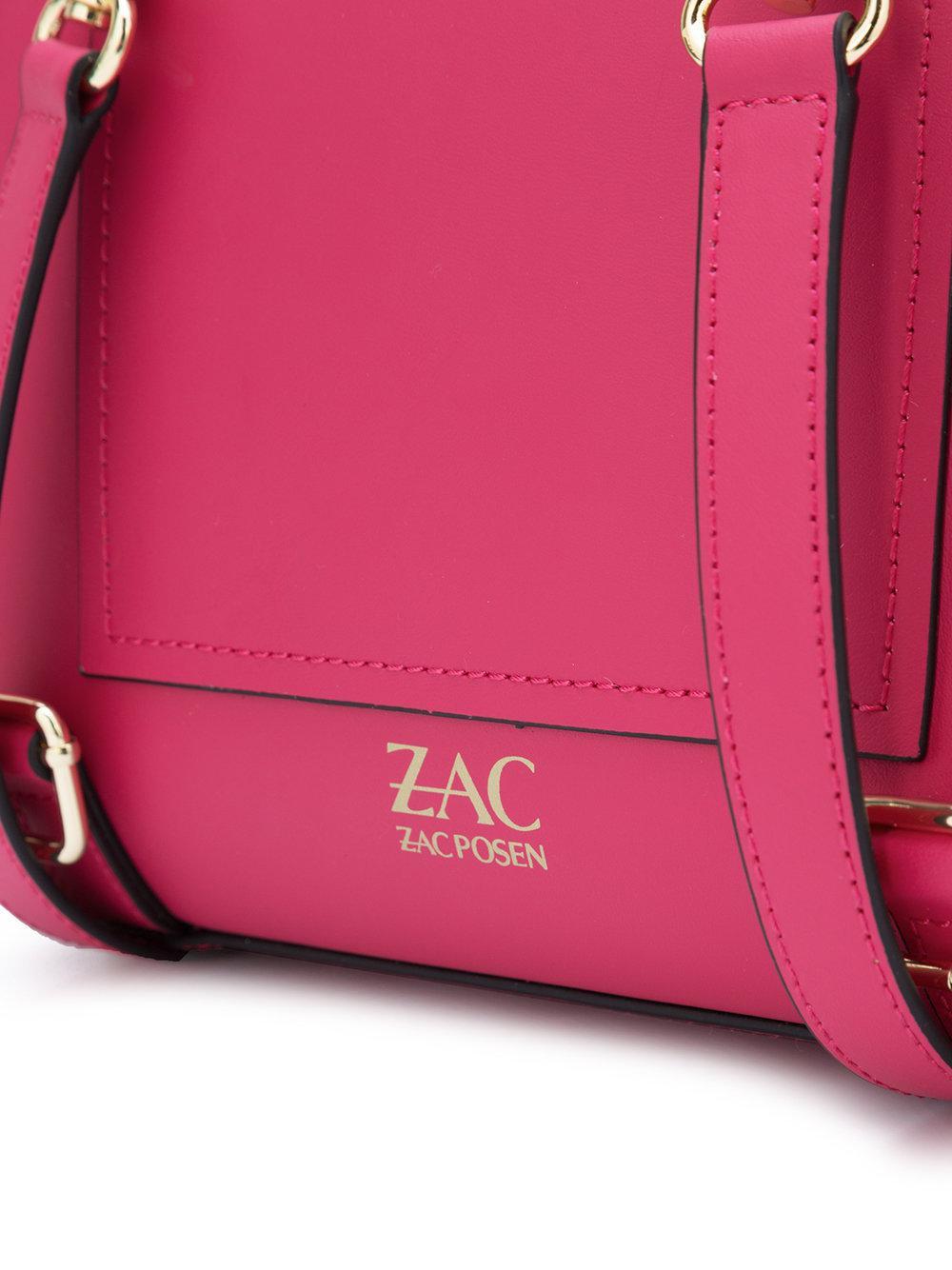 Zac Zac Posen Leather Eartha Iconic Charm Backpack in Pink & Purple (Pink)