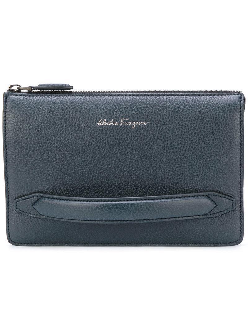 c507e41ce1a0 Ferragamo Firenze Clutch Bag in Blue for Men - Lyst