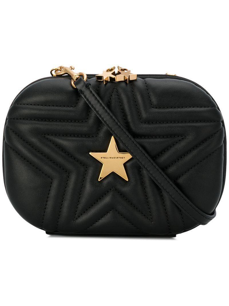 f3a5f088b6a2 Stella Mccartney Stella Star Crossbody Bag in Black - Lyst
