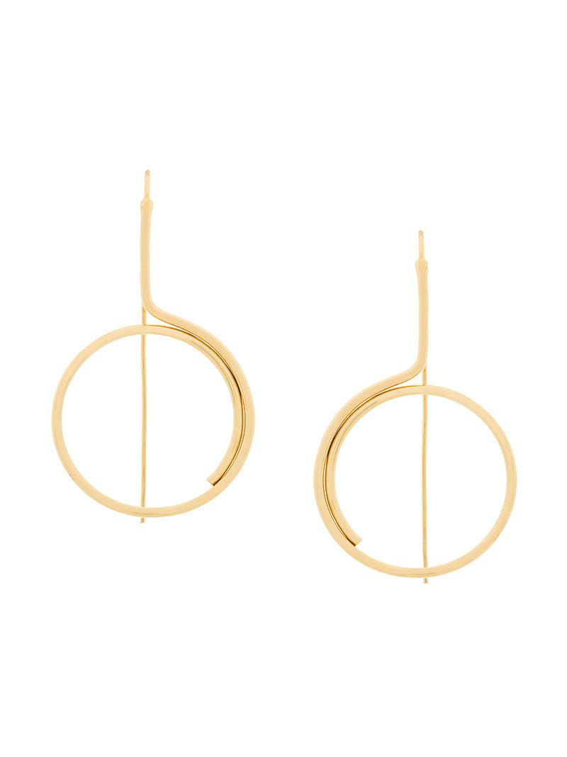 Wouters & Hendrix Technofossils e-coated Curve earring - Metallic