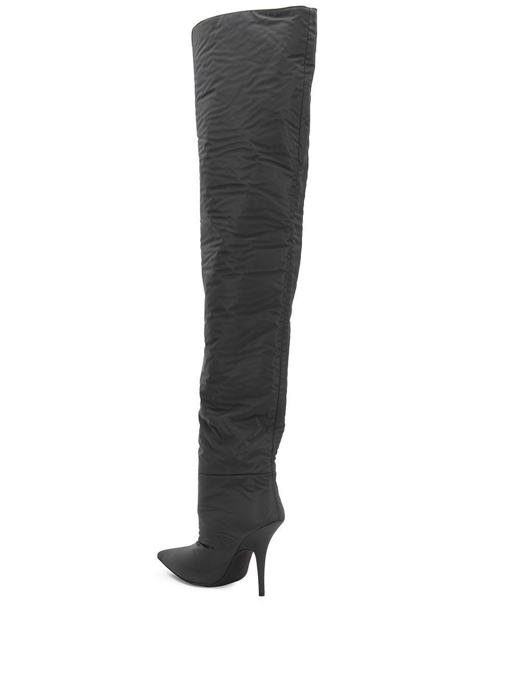 Botas altas de 110mm Yeezy de Cuero de color Gris