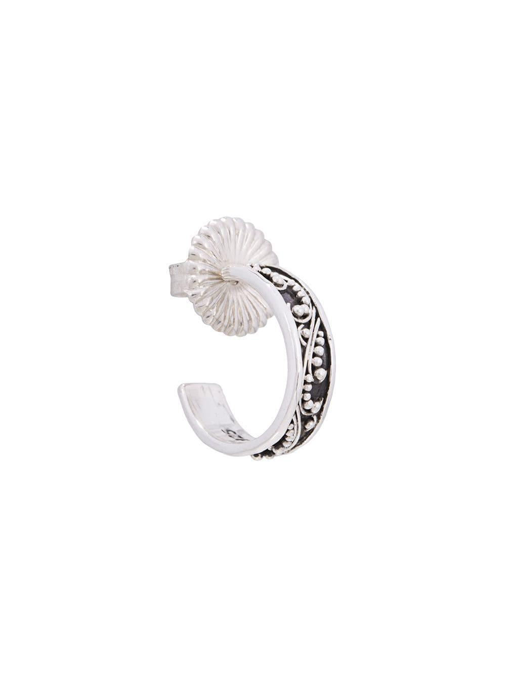 Lois Hill Craved Earring in Metallic