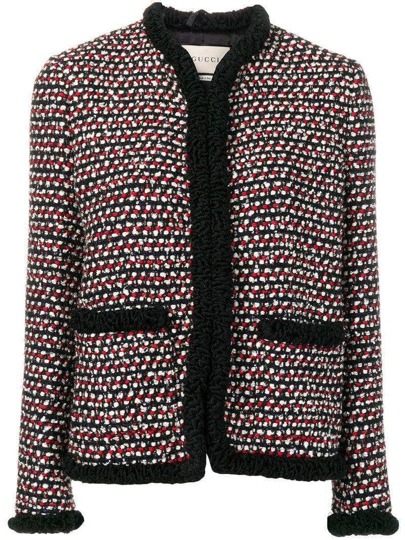 19e1981e3 Gucci - Black Boxy Tweed Jacket - Lyst. View fullscreen