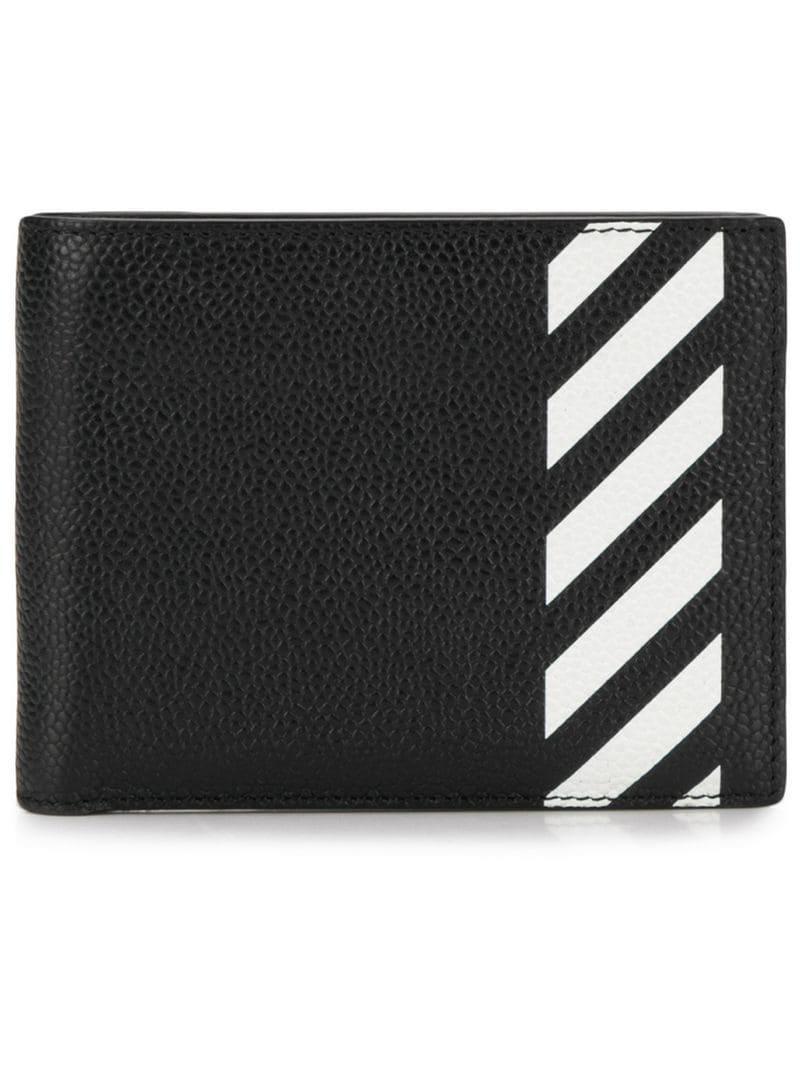 92131d1b03e2 Lyst - Off-White c o Virgil Abloh Striped Wallet in Black for Men ...