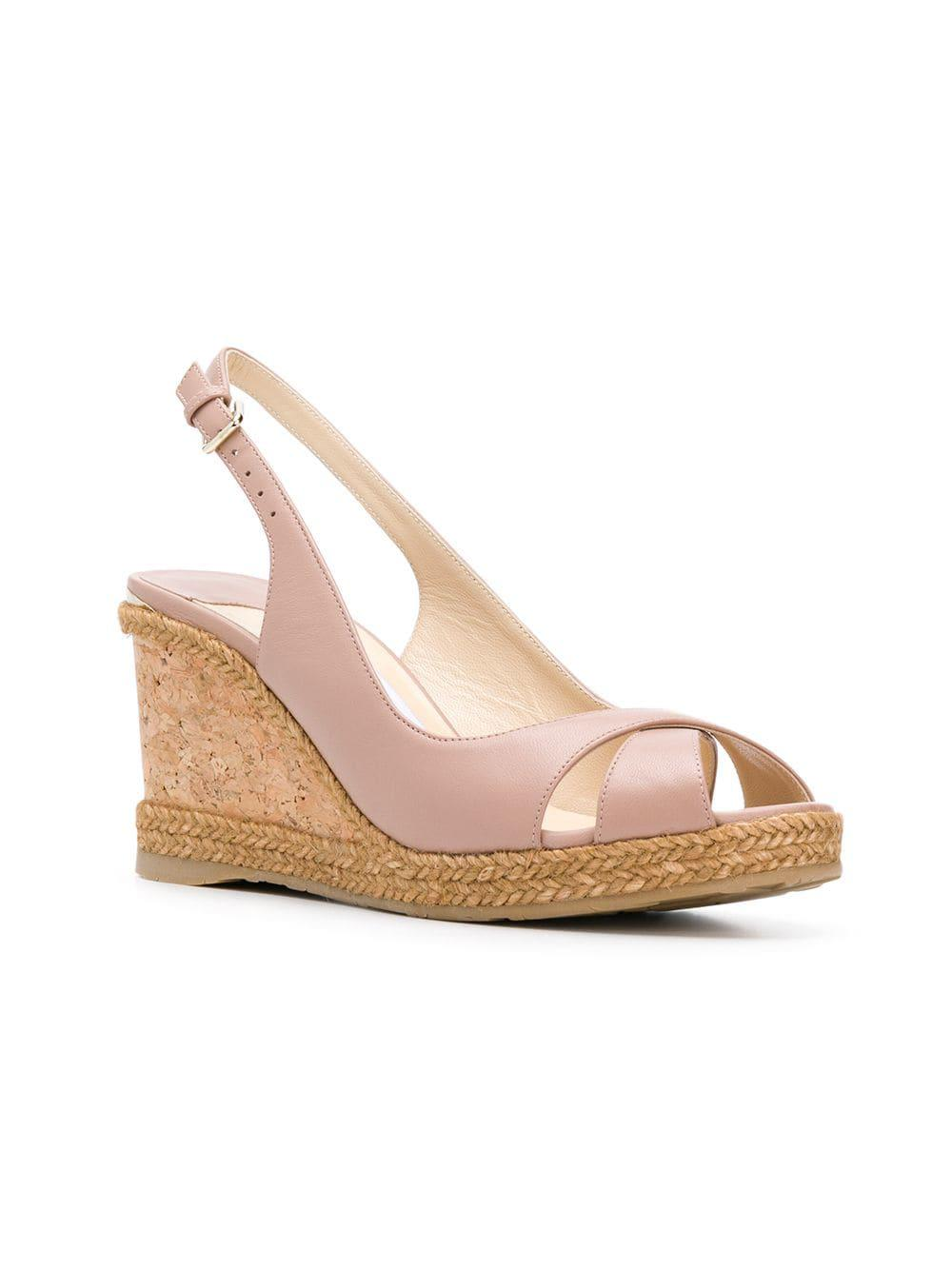 e9a066dbcf0 Jimmy Choo - Pink Amely 80 Sandals - Lyst. View fullscreen