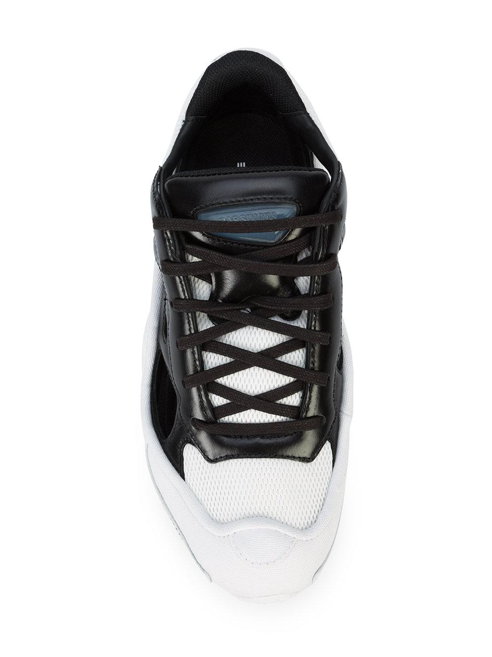adidas By Raf Simons Leather Replicant Ozweego Sneakers in Black