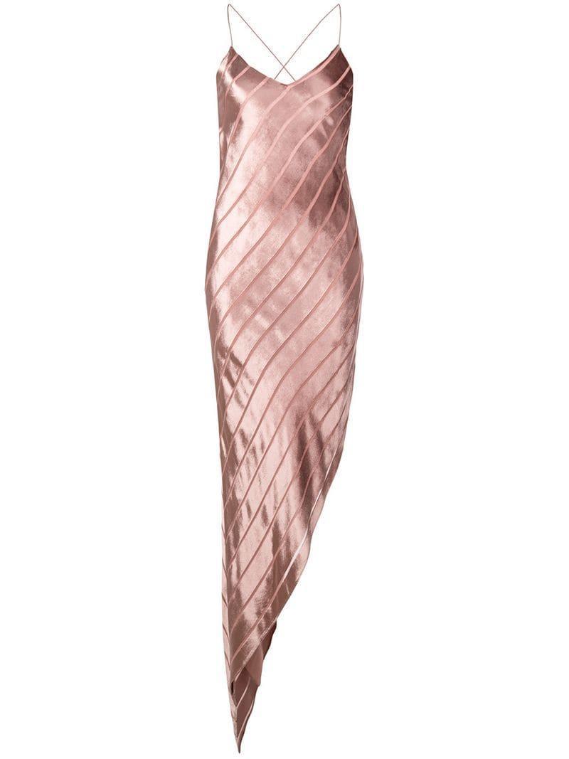 7edd2ad17d704c Lyst - Michelle Mason Asymmetric Bias Dress in Pink