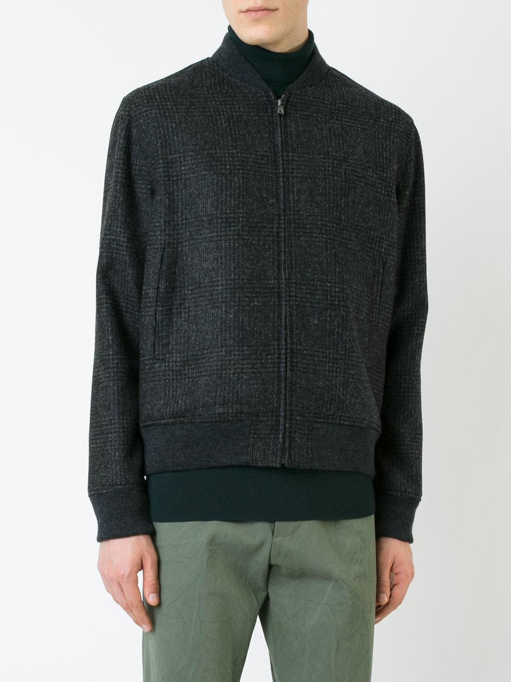 Kent & Curwen Tweed Bomber Jacket in Grey (Grey) for Men