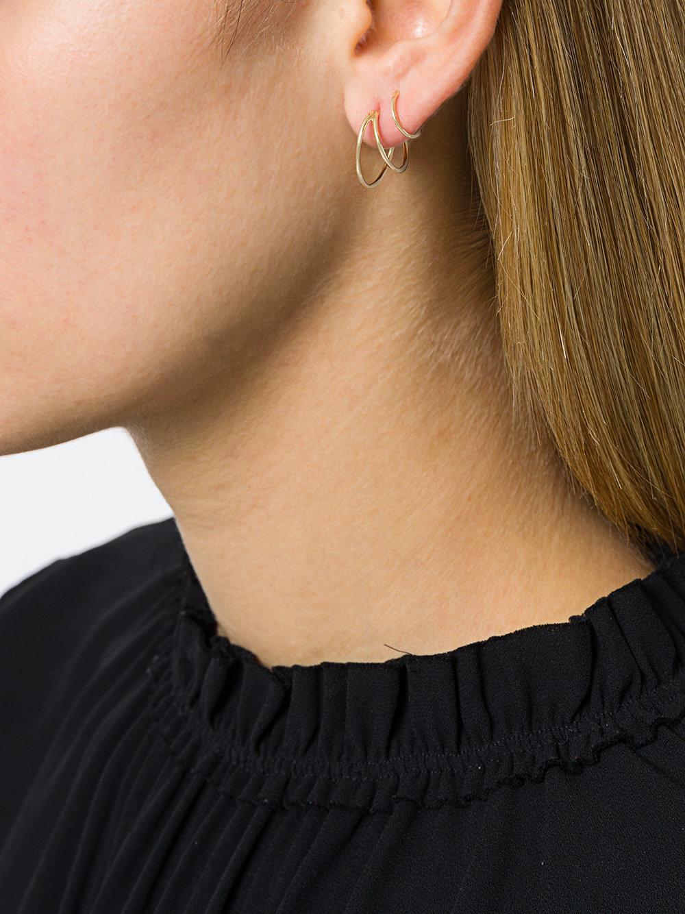 14kt yellow gold Mad Mouse twirl earring - Metallic Maria Black IF2n5O3f4