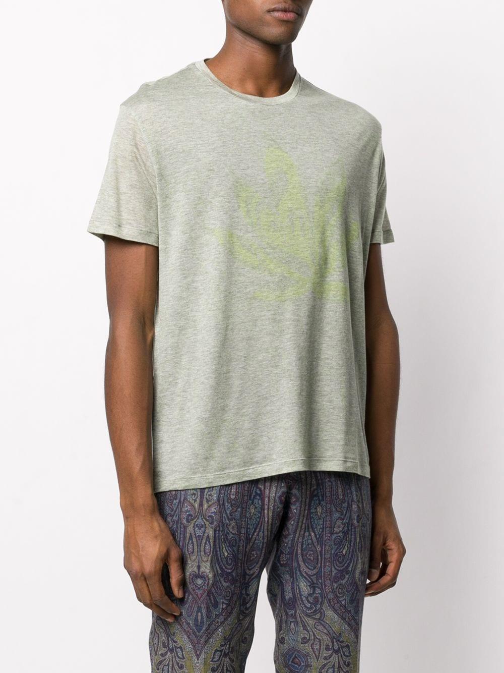 Etro Synthetisch T-shirt Met Ronde Hals in het Groen voor heren