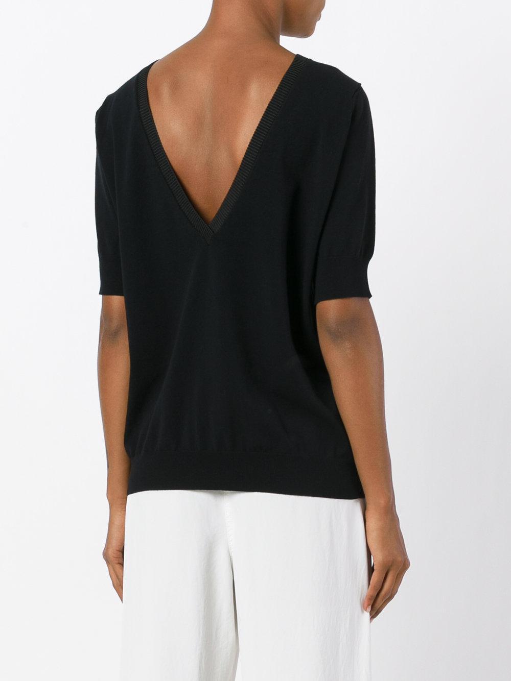 Essentiel Antwerp Synthetic Knitted Top in Black