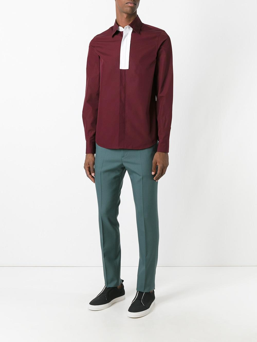 Marni Wool Tailored Trousers in Green for Men