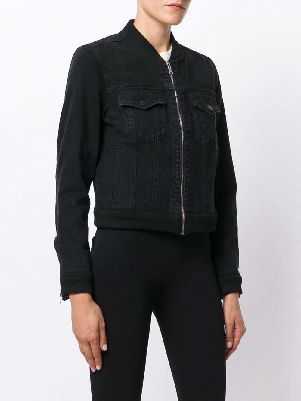 J Brand Harlow Bomber Jacket In Black Lyst