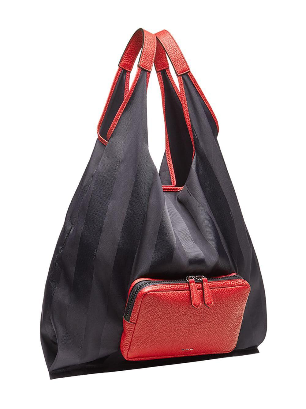 628190115bfd Fendi - Black Packable Shopper Bag for Men - Lyst. View fullscreen