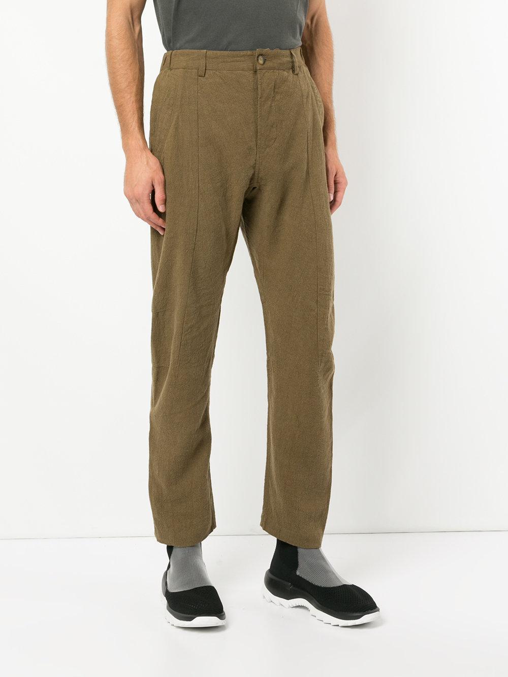 Maharishi Wide-leg Trousers in Green for Men