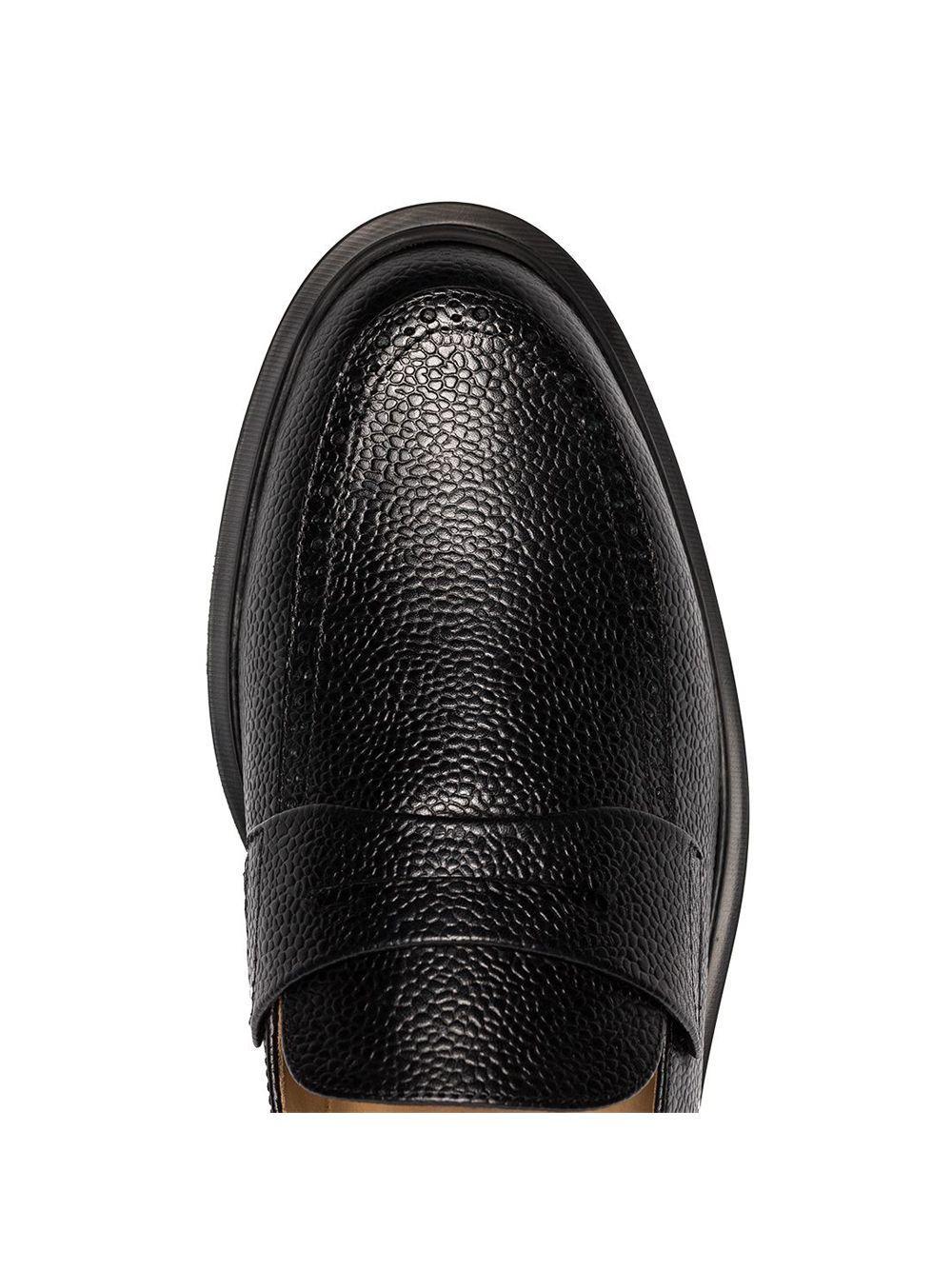Zapatos de vestir texturizados Thom Browne de Cuero de color Negro para hombre