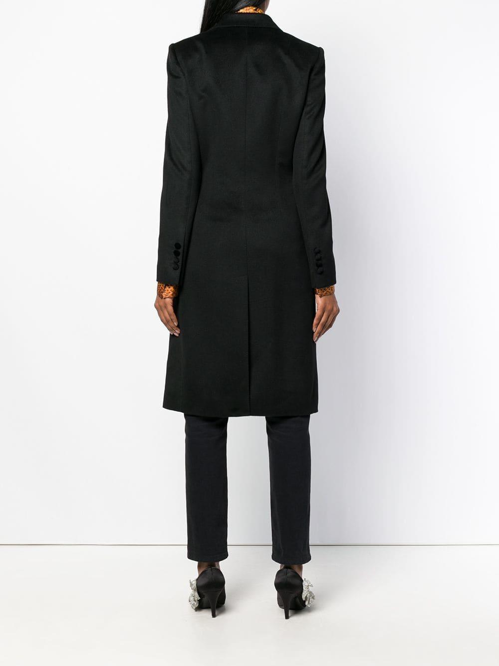 Manteau à poches à rabat Laines Dolce & Gabbana en coloris Noir ZwtCp