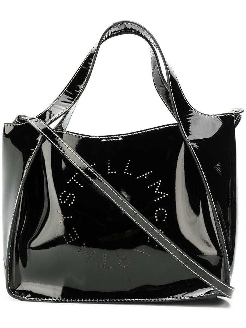 da91177ed55f Stella Mccartney Stella Logo Tote Bag in Black - Lyst