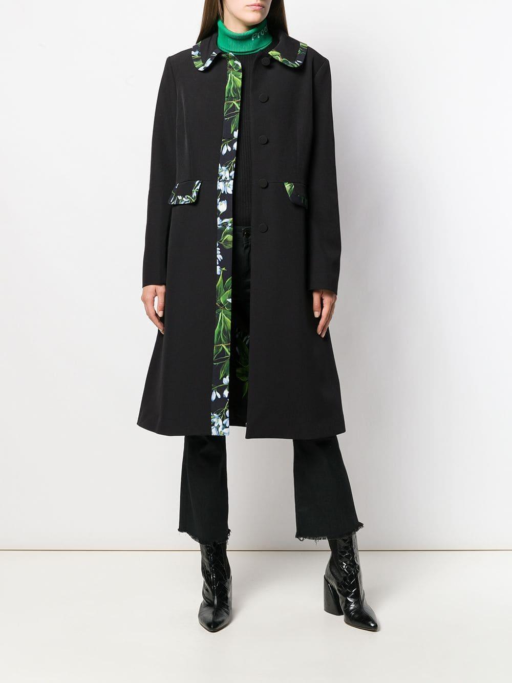 Manteau à empiècements imprimés Synthétique Blumarine en coloris Noir XA9OT
