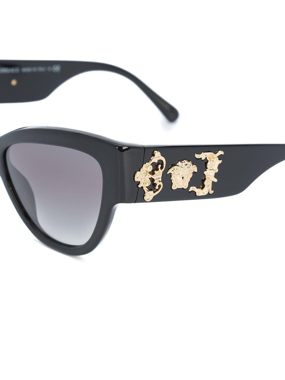 Versace Oversized Medusa Sunglasses in Black
