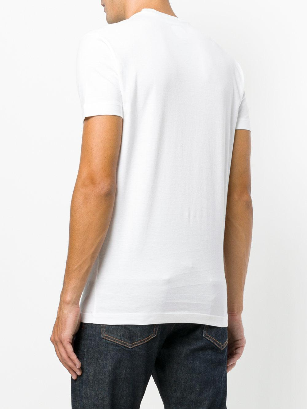 Lyst Dsquared Printed T Shirt In White For Men