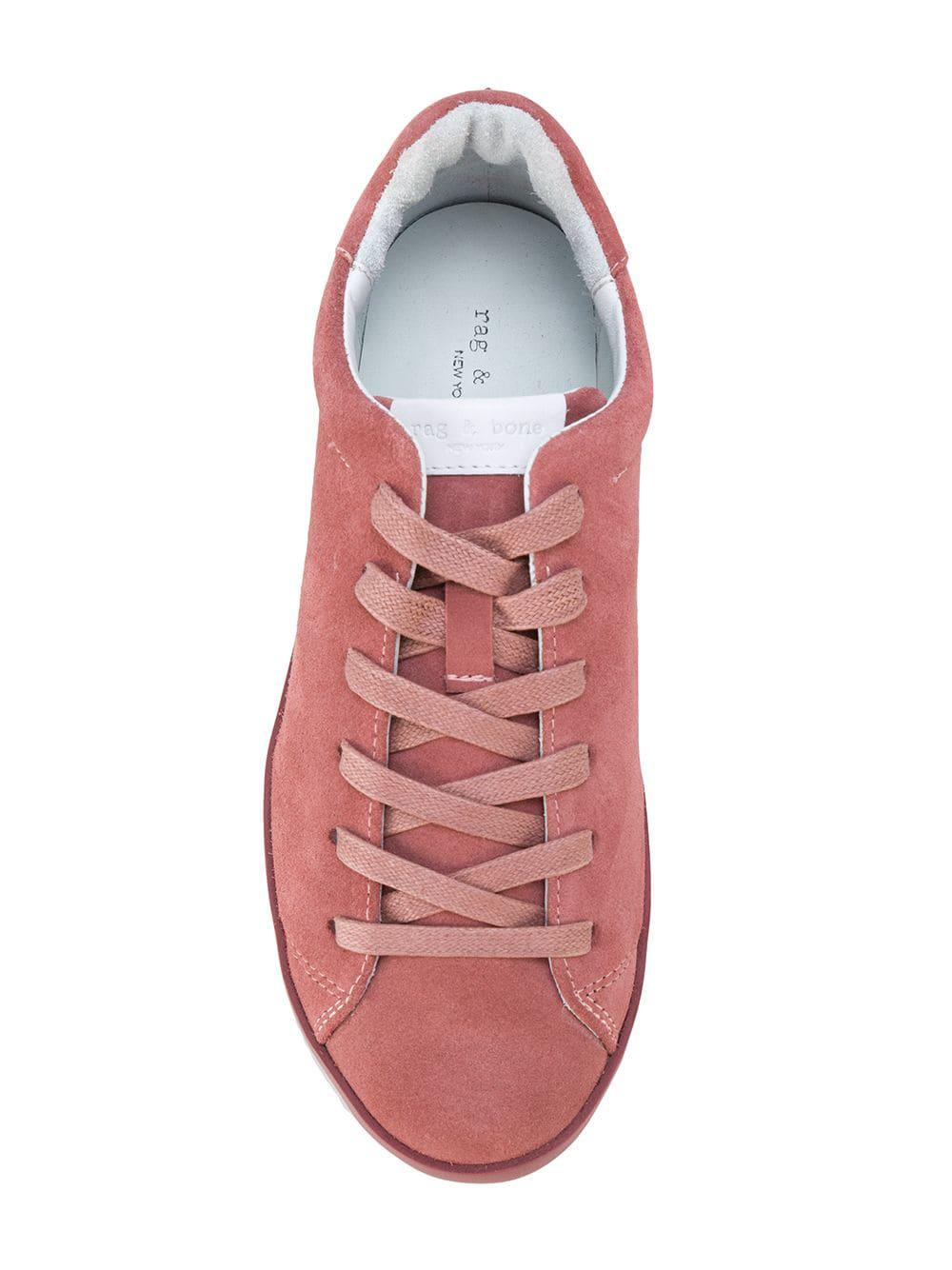 Rag & Bone Leather Casual Lace-up Sneakers in Pink