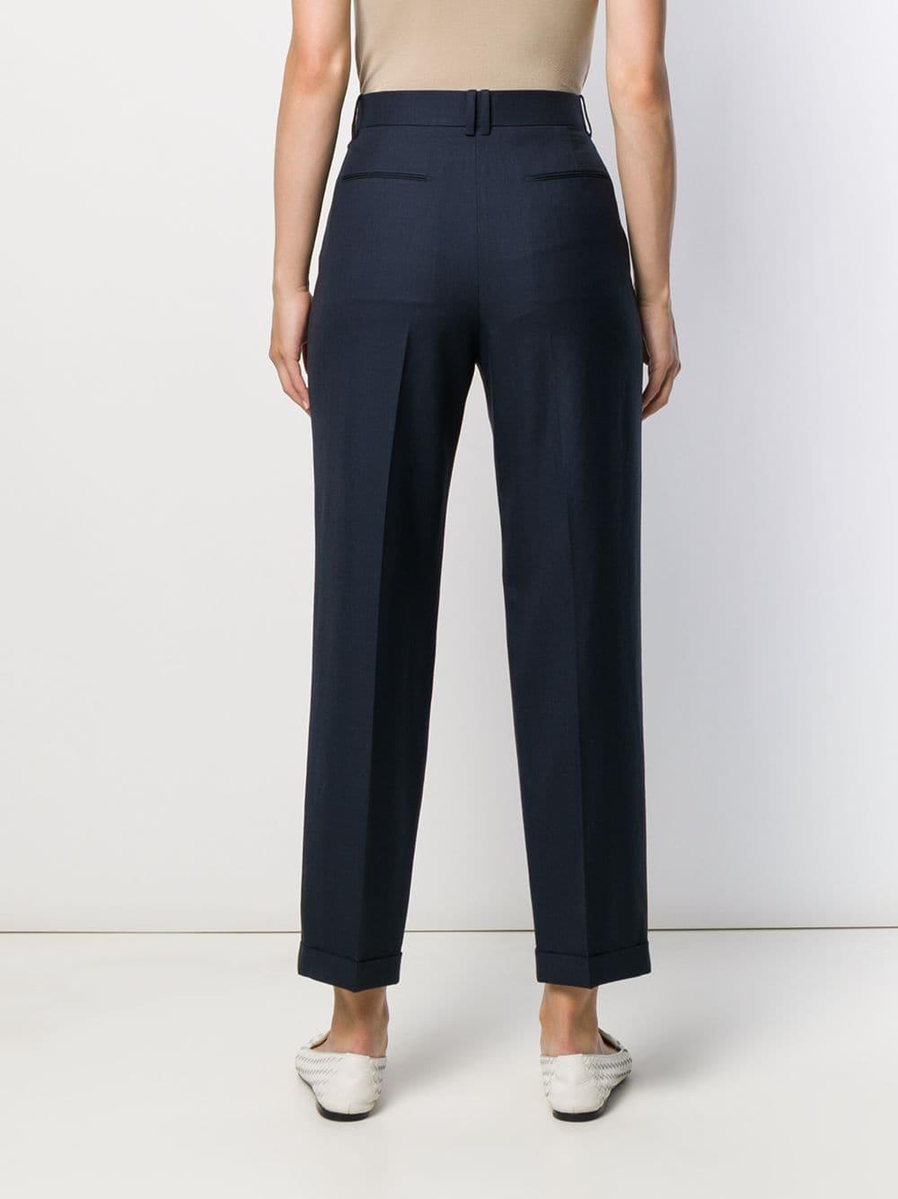 Pantalones capri de vestir The Row de Lana de color Azul
