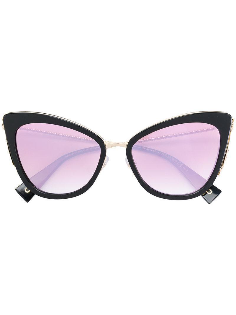 867e23177ebfd Lyst - Marc Jacobs Oversized Sunglasses in Black